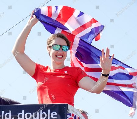 Stock Picture of Lizzy Yarnold in her home village of West Kingstown