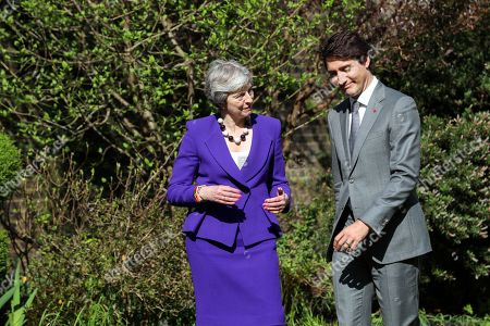 Editorial photo of Canadaian PM Trudeau in London, United Kingdom - 18 Apr 2018