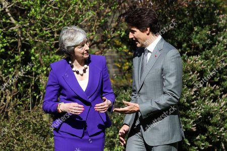 Editorial image of Canadaian PM Trudeau in London, United Kingdom - 18 Apr 2018