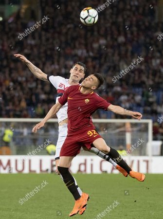 Editorial picture of Roma - Genoa, Rome, Italy - 18 Apr 2018