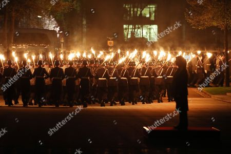 Editorial photo of Grand Tattoo farewell ceremony for Chief of Staff Volker Wieken, Berlin, Germany - 18 Apr 2018