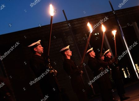 Editorial picture of Grand Tattoo farewell ceremony for Chief of Staff Volker Wieken, Berlin, Germany - 18 Apr 2018