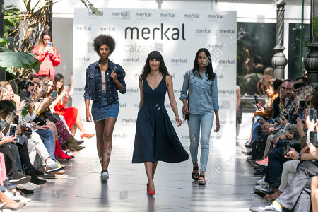 Stock Picture of Ana Albadalejo on the catwalk