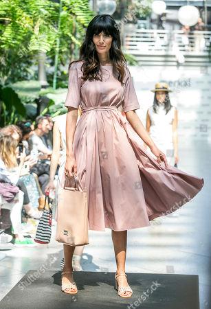 Stock Image of Ana Albadalejo on the catwalk