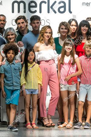 Stock Photo of Marta Hazas, Alejandra Andreu, Ana Albadalejo on the catwalk