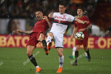 Editorial photo of AS Roma v Genoa, Italian Serie A, Stadio Olimpico, Rome, Italy - 18 Apr 2018
