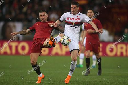 Editorial image of AS Roma v Genoa, Italian Serie A, Stadio Olimpico, Rome, Italy - 18 Apr 2018