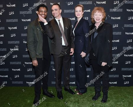 Tyrel Jackson Williams, Hank Azaria, Katie Finneran, Becky Ann Bake. IMAGE DISTRIBUTED FOR IFC - Tyrel Jackson Williams, left to right, Hank Azaria, Katie Finneran and Becky Ann Bake attend the Brockmire Season 2 Premiere at Lincoln Center's Walter Reade Theater on in New York