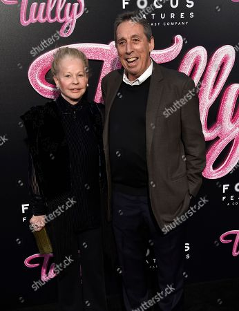 """Genevieve Robert, Ivan Reitman. Genevieve Robert, left, and Ivan Reitman, arrive at the Los Angeles premiere of """"Tully"""" at Regal Cinemas L.A. Live on"""