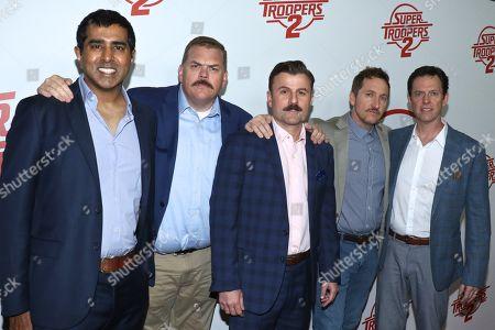 Jay Chandrasekhar, Kevin Heffernan, Steve Lemme, Paul Soter and Erik Stolhanske