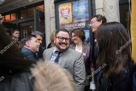 Chaz Bono, Martha Quinn. Chaz Bono is greeted by Martha Quinn as he arrives at The Curran Theater to see Head Over Heels, in San Francisco. Head Over Heels is the new musical comedy featuring the iconic songs of The Go-Go's