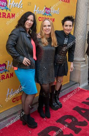 Kathy Valentine, Charlotte Caffey, Jane Wiedlin of The Go-Go's. Kathy Valentine, Charlotte Caffey and Jane Wiedlin of The Go-Go's arrive at The Curran Theater to see Head Over Heels, in San Francisco. Head Over Heels is the new musical comedy featuring the iconic songs of The Go-Go's