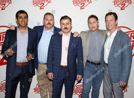 Jay Chandrasekhar, Kevin Heffernan, Steve Lemme, Paul Soter and Erik Stolhanske