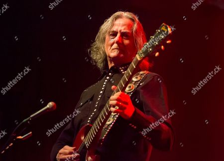Stock Photo of Former Boston guitarist Barry Goudreau performs before Joe Perry and Friends at the House of Blues on in Boston