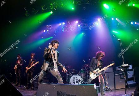 Stock Image of Brad Whitford, David Hull, Gary Cherone, Joe Perry. Brad Whitford, from left, David Hull, Gary Cherone and Joe Perry perform with Joe Perry and Friends at the House of Blues on in Boston