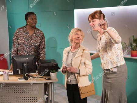 Tanya Moodie as Jaclyn, Sheila Reid as Rose, Elizabeth Berrington as Ileen
