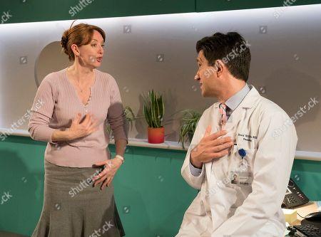 Stock Picture of Elizabeth Berrington as Ileen, Bo Poraj as Dr David Williams,