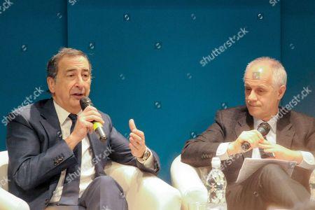 Giuseppe Sala and Luciano Fontana