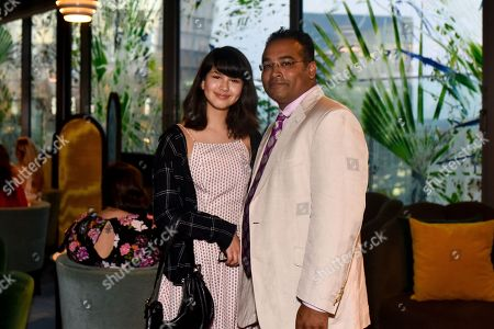 Krishnan Guru-Murthy and daughter Jasmine