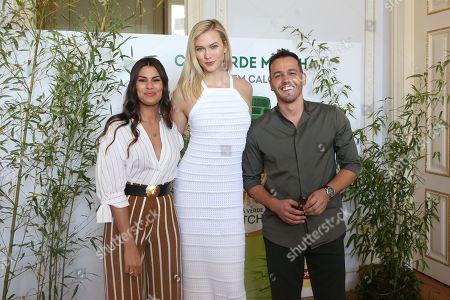 Carolina Loureiro, Karlie Kloss, Pedro Teixeira.