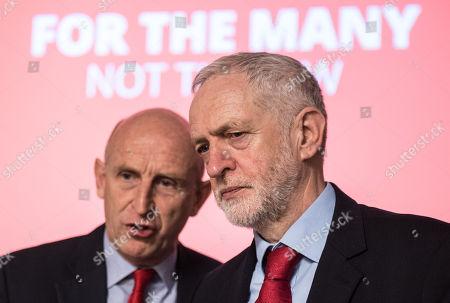 John Healey and Jeremy Corbyn