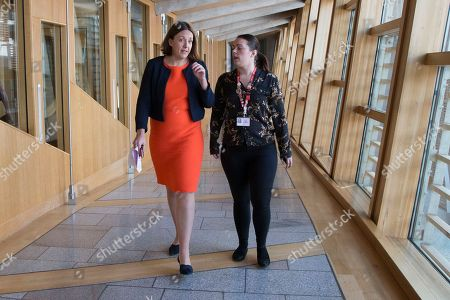 Scottish Parliament First Minister's Questions - Kezia Dugdale makes her way to the Debating Chamber.