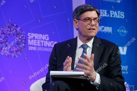 Editorial picture of 2018 International Monetary Fund World Bank Group Spring Meetings, Washington, USA - 19 Apr 2018