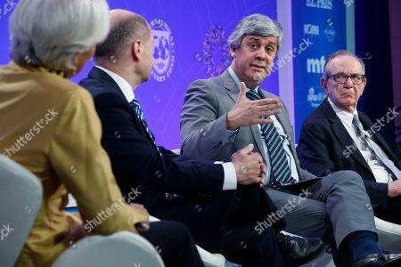 Christine Lagarde, Olaf Scholz, Pier Carlo Padoan and Mario Centeno