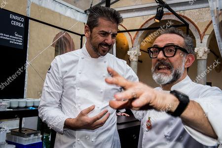 Chefs Andrea Berton, Massimo Bottura