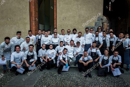 Chefs Massimo Bottura, Enrico Cerea, Antonio Guida, Giancarlo Morelli, Matias Perdomo, Viviana Varese