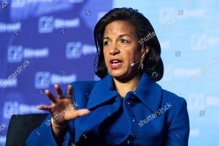 Ambassador Susan Rice, former National Security Advisor to President Barack Obama, speaking at the J Street National Conference.