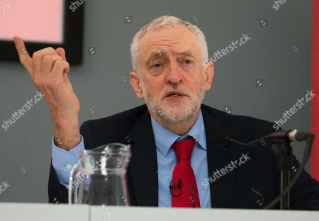 Leader of the Labour Party Jeremy Corbyn launches the Labour Party's Social Housing review and Green Paper entitled 'Housing for the Many' with Shadow Housinjg Minister, John Healey, in Westminster