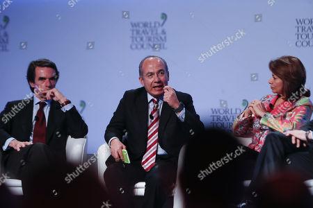 Jose María Aznar, Felipe Calderon and Laura Chinchilla
