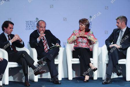Laura Chinchilla, Jose María Aznar, Felipe Calderon and Marcos Peña