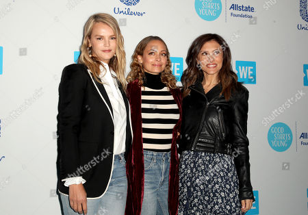 Kelly Sawyer-Patricof, Nicole Richie and Norah Weinstein