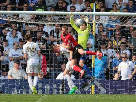 Leeds Keeper Bailey Peacock Farrell Saves From Barnsley's  Matthew Mills