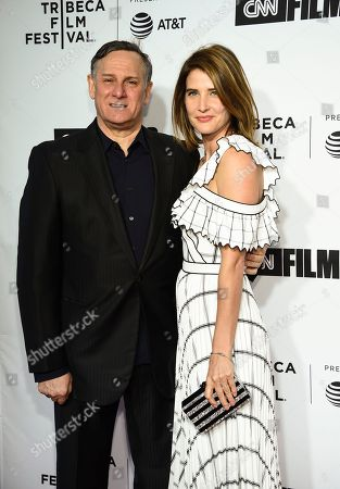 "Craig Hatkoff, Cobie Smulders. Tribeca Film Festival co-founder Craig Hatkoff and actress Cobie Smulders attend the Tribeca Film Festival opening night world premiere of ""Love, Gilda"" at the Beacon Theatre, in New York"