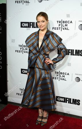 """Actress Genevieve Angelson attends the Tribeca Film Festival opening night world premiere of """"Love, Gilda"""" at the Beacon Theatre, in New York"""