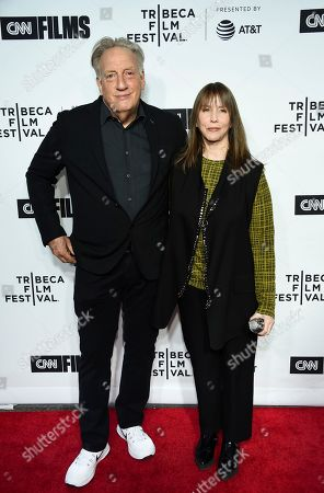 """Alan Zweibel, Laraine Newman. Executive producer Alan Zweibel, left, and Laraine Newman attend the Tribeca Film Festival opening night world premiere of """"Love, Gilda"""" at the Beacon Theatre, in New York"""
