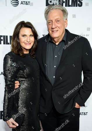 """Robin Blankman, Alan Zweibel. Executive producer Alan Zweibel and wife Robin Blankman attend the Tribeca Film Festival opening night world premiere of """"Love, Gilda"""" at the Beacon Theatre, in New York"""