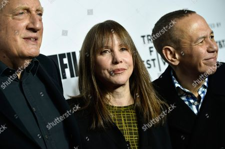 "Alan Zweibel, Laraine Newman, Gilbert Gottfried. Alan Zweibel, left, Laraine Newman and Gilbert Gottfried attend the Tribeca Film Festival opening night world premiere of ""Love, Gilda"" at the Beacon Theatre, in New York"