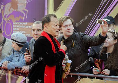 Stock Image of US actor Cary-Hiroyuki Tagawa poses on the red carpet during the open ceremony of the 40th Moscow International Film Festival at the Rossiya Theatre in Moscow, Russia, 19 April 2018. The festival runs from 19 to 26 April.