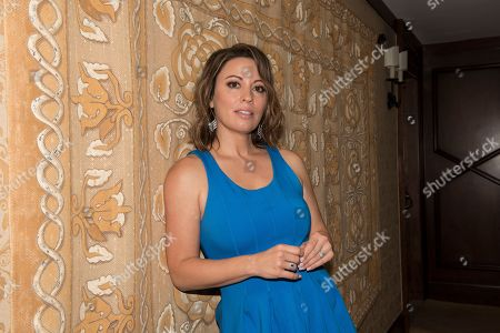"""Kay Cannon poses for a portrait at the """"Blockers"""" junket at the Montage hotel, in Beverly Hills, Calif"""