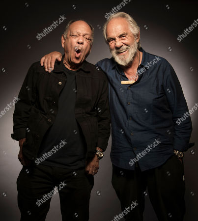 """Cheech Marin, Tommy Chong. Cheech Marin, left, and Tommy Chong pose for a portrait to promote the 40th anniversary of """"Up in Smoke"""" in Los Angeles, Calif"""