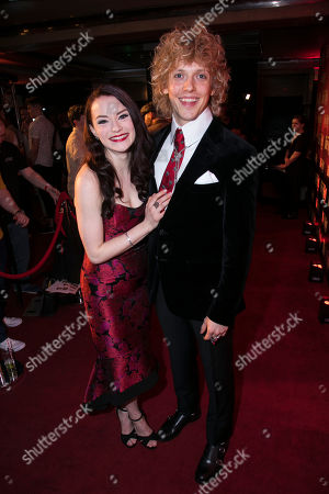Stock Picture of Christina Bennigton (Raven) and Andrew Polec (Strat)