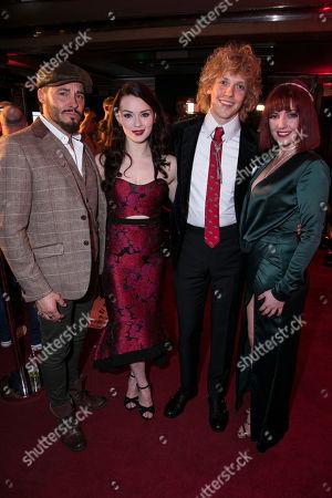 Stock Photo of Rob Fowler (Falco), Christina Bennigton (Raven), Andrew Polec (Strat) and Sharon Sexton (Sloane)