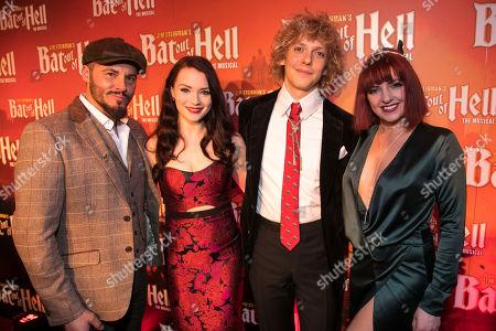 Rob Fowler (Falco), Christina Bennigton (Raven), Andrew Polec (Strat) and Sharon Sexton (Sloane)