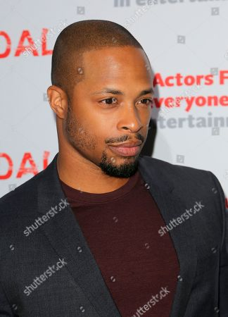 "Stock Photo of Cornelius Smith Jnr., cast member of ""Scandal"" arrives a the live stage reading of the series finale at El Capitan Theatre, in Los Angeles"