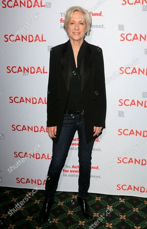 """Betsy Beers arrives at the live stage reading of the """"Scandal"""" series finale at El Capitan Theatre, in Los Angeles"""