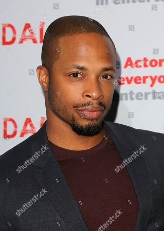 "Stock Picture of Cornelius Smith Jnr., cast member of ""Scandal"" arrives a the live stage reading of the series finale at El Capitan Theatre, in Los Angeles"